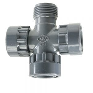 Dura Manifold Cross 25mm F x M x F x F