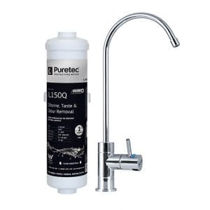 Puretec Inline Filter with High Loop LED Faucet for Harsh Water