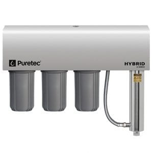 Puretec Triple Filtration and Ultraviolet All in One Unit with Weather Cover, 10 inch