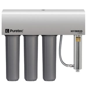 Puretec Triple Filtration and Ultraviolet All in One Unit with Weather Cover, 20 inch