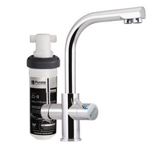 Puretec Quick Twist Undersink Filter using Ultra Z Filtration Technology with Tripla™ T3 LED Mixer Tap