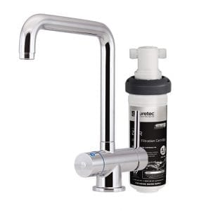 Puretec Quick Twist Undersink Filter using Ultra Z Filtration Technology with Tripla™ T5 LED Mixer Tap